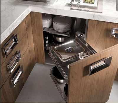 Bandejas extraibles esquina archives carpinter a pallas for Muebles de cocina kuchen