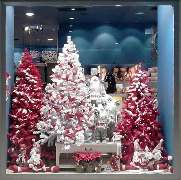 Rbol de navidad rojo archives carpinter a pallas - Arboles de navidad blancos ...