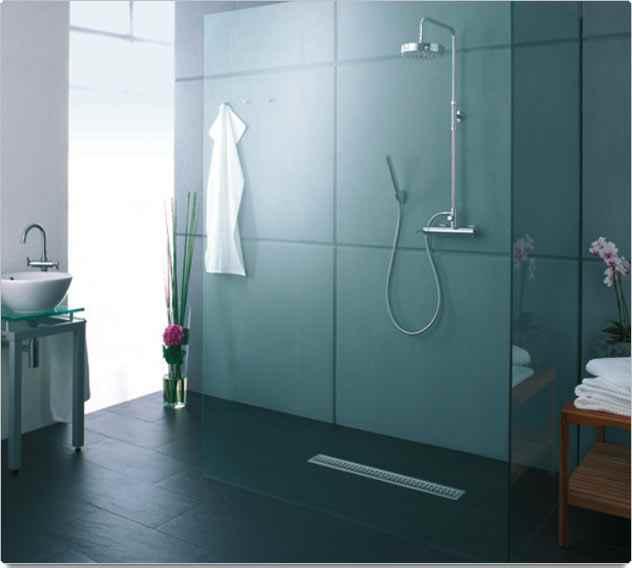 Ba os estilos duchas modernas plato al ras del suelo for Duchas modernas de obra